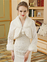 Faux Fur Wedding Party / Evening Women's Wrap With Pattern / Print Fur Shrugs