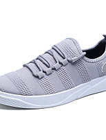 Men's Shoes Fabric Spring Fall Comfort Sneakers For Casual Gray Black White