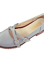Femme Chaussures Polyuréthane Automne Hiver Semelles Légères Chaussures à Talons Gros Talon Bout rond Plume Pour Décontracté Beige Gris