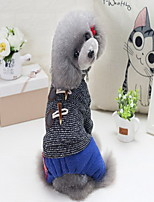 Dog Sweater Dog Clothes Keep Warm New Year's British Gray Coffee Costume For Pets
