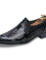 Men's Shoes PU Spring Fall Comfort Loafers & Slip-Ons For Office & Career Black
