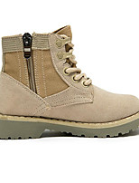 Boys' Shoes Cowhide Winter Snow Boots Combat Boots Boots For Casual Beige Black