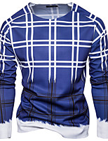 Men's Daily Going out Casual Sexy Sweatshirt Print Round Neck Micro-elastic Cotton Long Sleeve Spring Fall