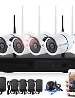4CH 720P Plug and Play Wireless NVR Kits Waterproof IR Night Vision Security WIFI IP Camera 36LEDs Surveillance CCTV System