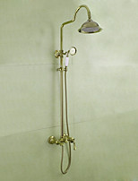 Luxury Classical Wall Mounted Rainfall Rain Shower Handshower Included High Quality Ti-PVD , Shower Faucet