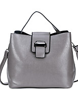 Women Bags All Seasons PU Tote Zipper for Shopping Casual Blue Black Blushing Pink Gray