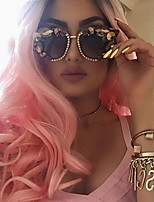 Women Human Hair Lace Wig Brazilian Remy 360 Frontal 150% Density Body Wave Wig Blonde/Pink Medium Length
