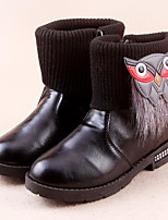 Girls' Shoes PU Winter Bootie Boots Booties/Ankle Boots For Casual Red Black