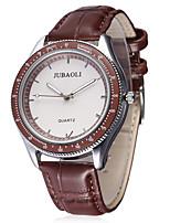 JUBAOLI Damen Modeuhr Armbanduhr Chinesisch Quartz Leder Band Bettelarmband Cool Bequem Schwarz Weiß Braun Grün