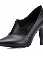 Women's Shoes Nappa Leather Cowhide Spring Fall Comfort Basic Pump Heels For Casual Black