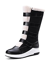 cheap -Women's Shoes Leatherette Winter Spring Comfort Snow Boots Boots Creepers Round Toe Mid-Calf Boots Buckle for Casual Black Brown