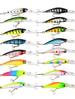16 pcs Fishing Lures Hard Bait Minnow g/Ounce,90, 101 mm/3-1/2