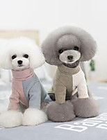 Dog Clothes Casual/Daily Keep Warm Trendy Halloween Christmas Color Block Green Blue Pink Costume For Pets