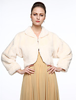 Long Sleeves Faux Fur Wedding Party/ Evening Women's Wrap With Buckle Coats/Jackets