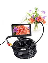 Obiettivo 5.5mm mini macchina fotografica endoscope av videocamera 5v ntsc impermeabile ip66 15m ispezione serpente tubo serpente camma