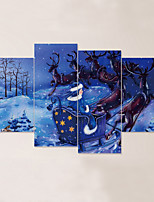 Animales Navidad Paisaje Pegatinas de pared Calcomanías 3D para Pared Calcomanías Decorativas de Pared 3D,Vinilo Material Decoración