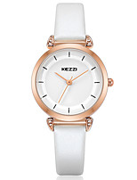 KEZZI Women's Fashion Watch Wrist watch Casual Watch Quartz PU Band Luxury Cool Casual Black White Pink
