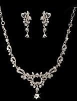 Women's Drop Earrings Necklace Rhinestone Fashion Rhinestone Alloy Drop Earrings Necklace For Wedding Party Wedding Gifts