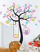 Animales Botánico De moda Pegatinas de pared Calcomanías de Aviones para Pared Calcomanías Decorativas de Pared Material Decoración