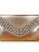 Damen Taschen Ganzjährig PU Unterarmtasche Reißverschluss für Normal Gold Schwarz