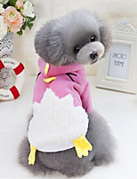 Dog Hoodie Dog Clothes Cotton Winter Spring/Fall Casual/Daily Cartoon Blue Pink For Pets