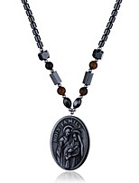 Women's Pendant Necklaces Chain Necklaces Obsidian Geometric Irregular Stone Jewelry For Halloween Christmas