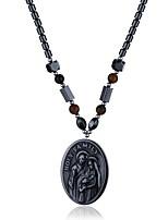 Жен. Ожерелья с подвесками Ожерелья-цепочки Обсидиан Геометрической формы Камень Бижутерия Назначение Halloween Рождество