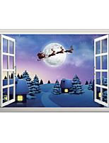 Christmas Landscape 3D Wall Stickers 3D Wall Stickers Decorative Wall Stickers 3DVinyl Material Home Decoration Wall Decal