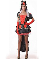 Queen One Piece Dress Masquerade Movie Cosplay Black Dresses Halloween Carnival Polyster