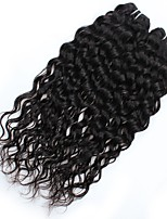 cheap -Unprocessed Peruvian Natural Color Hair Weaves water wave Hair Extensions 2 pcs Black