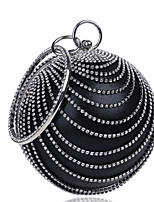 Women Bags All Seasons Polyester Evening Bag Buttons Pearl Detailing for Casual Blue Black Red