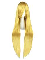 жен. Без шапочки-основы Очень длинный Естественные прямые Золотой блондин Аниме Парики для косплей Парики к костюмам