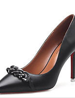 Women's Shoes Patent Leather Spring Fall Basic Pump Comfort Heels For Casual Nude Almond Black