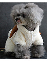 Dog Costume Dog Clothes Casual/Daily Solid White Gray Brown Costume For Pets