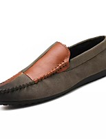 Men's Shoes PU Spring Fall Driving Shoes Loafers & Slip-Ons Split Joint For Casual Brown Black