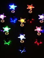 1 stücke führte farbe ändern stern form ohrringe ohrstecker für dance party