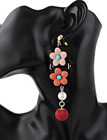 Femme Boucles d'oreille goutte Perle imitée Alliage Forme de Fleur Balle Bijoux Pour Soirée Halloween Quotidien Cérémonie Vacances