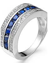Men's Women's Knuckle Ring Engagement Ring Cubic Zirconia Fashion Luxury Classic Elegant Zircon Copper Geometric Jewelry For Wedding