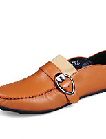 Men's Shoes Real Leather Spring Fall Comfort Loafers & Slip-Ons Buckle For Casual Party & Evening Blue Brown Black White