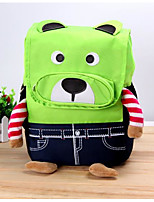 Kids Bags All Seasons Nylon Backpack Zipper for Casual Blue Yellow Light Green