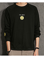 Men's Daily Sweatshirt Print Round Neck Micro-elastic Cotton Long Sleeve Winter Fall