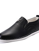 Men's Shoes Pigskin Spring Fall Moccasin Loafers & Slip-Ons For Casual Red Dark Blue Black