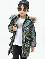Boys' Camouflage Print Down & Cotton Padded,Polyester Winter Long Sleeve
