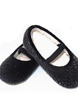 Fille Chaussures Fourrure Automne Hiver Confort Basket Pour Décontracté Noir Gris