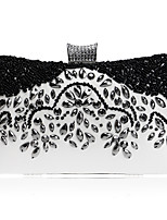 Women Bags Polyester Evening Bag Crystal Detailing for Event/Party Formal All Seasons Black