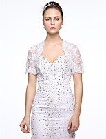 Lace Wedding Party / Evening Women's Wrap With Applique Beading Shrugs