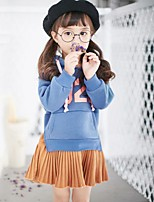Girl's Casual/Daily Print Dress,Cotton Polyester Fall Winter Long Sleeve