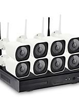 8ch sans fil nvr kits 36leds étanche ir vision nocturne sécurité wifi ip caméra surveillance système de vidéosurveillance 720p