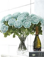 2 Une succursale Polyester Camélia Fleur de Table Fleurs artificielles