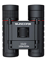 SUNCORE® 10X22 Binoculars Portable Travel Size Easy Carrying Lightweight BAK4 Multi-coated 131/000 Central Focusing